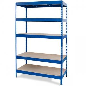 Various Color Metal Shelving Units With Wood Shelves Convenience Store Use