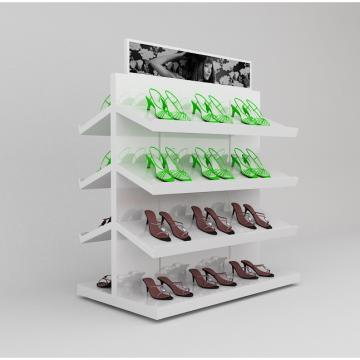 Stainless Steel Shoe Display Stands , Shoe Retail Store Display Tools, Shoe Shop Rack Stand