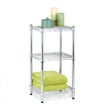 Easy Installation Metal And Wood Display Shelves , Metal Shelving With Wood Shelves