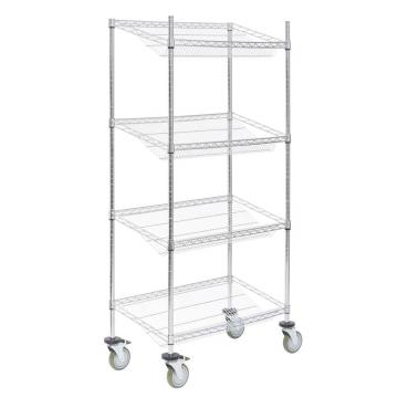 Multifunction commercial adjustable wire slanted shelving