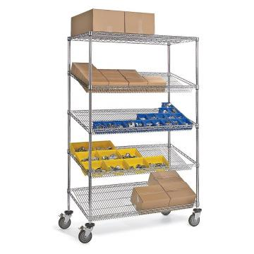 Indoor Greenhouse Storage Wire Rack, Colored Wire Shelving