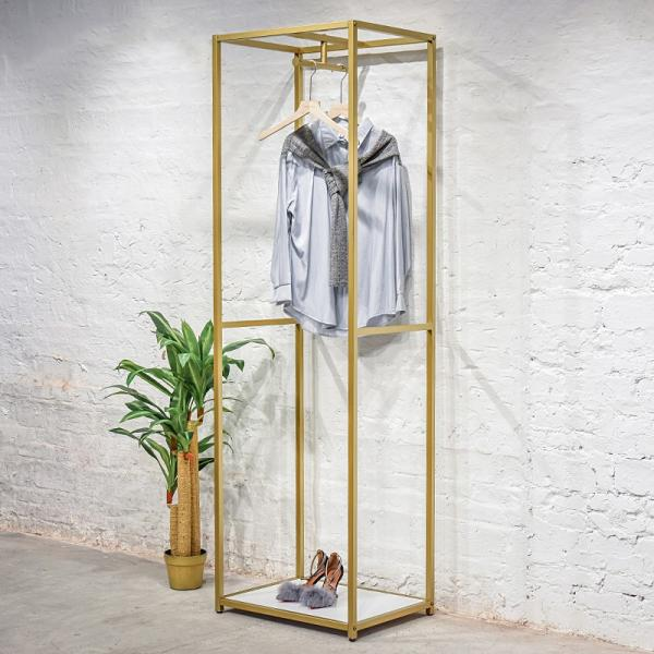 Eco - Friendly Material Retail Clothing Fixtures / Island Clothing Display Racks #2 image